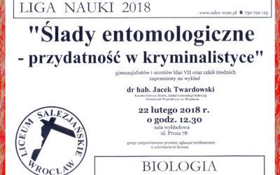 LIGA NAUKI – BIOLOGIA – Ślady entomologiczna