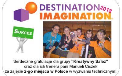 Sukces w  Ogólnopolskiej Olimpiadzie Kreatywności