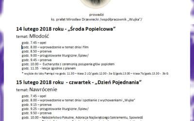 REKOLEKCJE 2018 DLA KLAS VII
