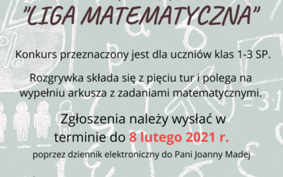 KONKURS MATEMATYCZNY KLAS 1-3